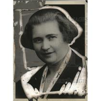 1927 Press Photo Signorina Rachel Mussolini, Wife of Italian Prime Minister
