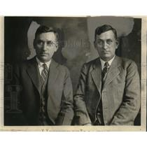 1928 Press Photo Brothers George Sharp, Judge Summers Sharp of West Virginia