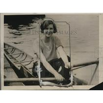 1925 Press Photo Hilda Spinks now Queen of lady scullers at Clapton England
