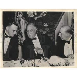 1912 Press Photo President FD Roosevelt, Arthur Hachten & Harold Brayman