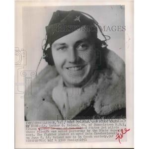 1951 Press Photo Lt. Luther G. Roland, jet pilot held in Czechoslovakia