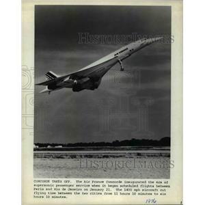 1976 Press Photo Air France Concorde - cvb27876