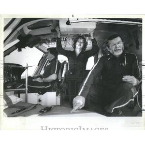 1981 Press Photo Frank Baker, Chip Wiggins, Jane Iberle- RSA52989