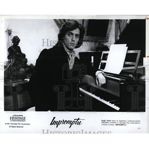 1991 Press Photo Hugh Grant Impromptu Film Actor - RRW00799