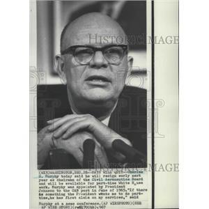 1967 Press Photo Charles S. Murphy, chairman of the Civil Aeronautics Board