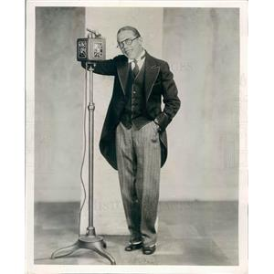 1930 Press Photo Comedian George Dr Rockwell Master of Merrimonies - ner54483
