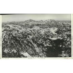 1935 Press Photo Sawtooth Mountains - spa88275