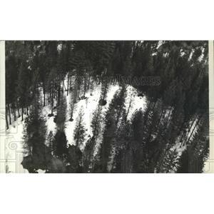 1935 Press Photo Sawtooth Mountains - spa88276