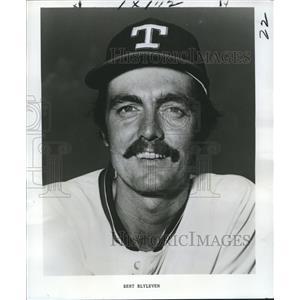 1977 Press Photo Texas Rangers Pitcher Bert Blyleven - nos04365