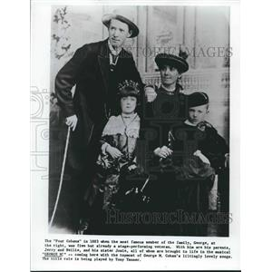 "1883 Press Photo The ""Four Cohans"" in 1883 - nop15828"