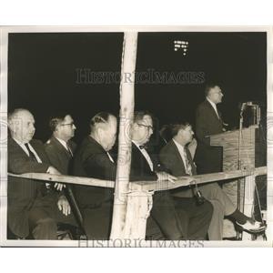 1955 Press Photo Meeting of White Citizens Council about Segregation - abna18062