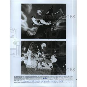 1952 Press Photo Scenes from Walt Disney's animated movie, Peter Pan.