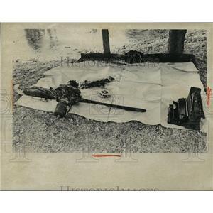 1974 Press Photo Airplane accident wreckage - nem53817