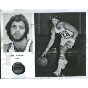 1976 Press Photo Mike Newlin Guard Houston Rockets - RRQ22379