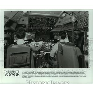 """1989 Press Photo """"Living with Disaster,"""" a special on The Infinite Voyage show"""