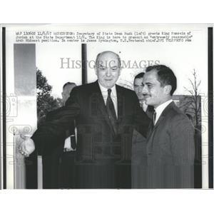 1967 Press Photo Dean Rusk Greets King Hussein Jordan - RRV39095