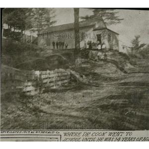 1919 Press Photo Dr Cook Old School Exterior - RRW78229