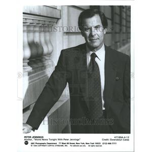 1998 Press Photo Peter Jennings Journalist News Anchor - RRV79005