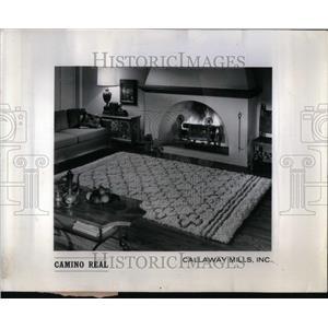1964 Press Photo Patterned rug home decoration living - RRU92879