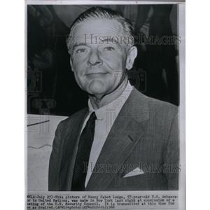 1960 Press Photo Henry Cabot Lodge U.N. Ambassador - RRX27299