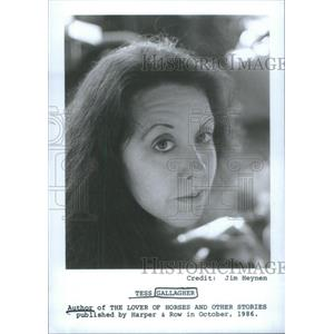 1986 Press Photo Lover Horses Other Stories Author Gallagher Portrait