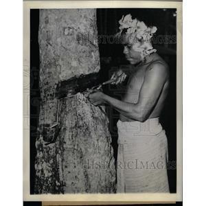 1944 Press Photo Rubber Papua New Guinea - RRX71781