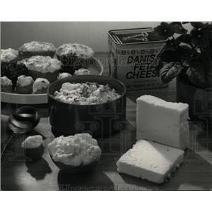 1986 Press Photo Feta-Cheese Broiled Tomatoes Garnish - RRW56797