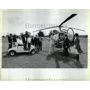 1987 Press Photo Helicopter/Oak Brook Hills Luxury Stay - RRX11543