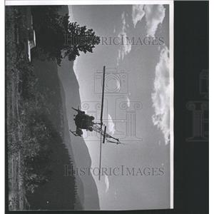 1962 Press Photo Helicopter Checking Fire Lines - RRX93355