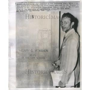 1950 Press Photo First Black Admitted to Law School - RRU17287