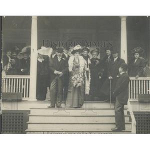 1909 Press Photo Henrietta Sylvia Ann Howland Green Matthew Astor Wilks Wedding
