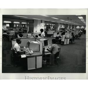 1980 Press Photo TWA Communications Complex Interior - RRW91343