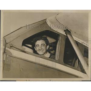 1939 Press Photo early aviator Alex Loeb in Ryan Monoplane cockpit - RSH51851