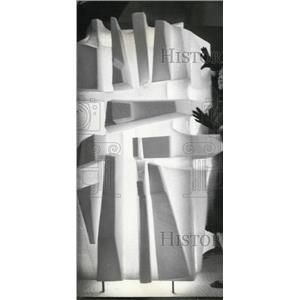 1962 Press Photo Lighted Sculpture Museum Decorative Arts Marsan Pavillion