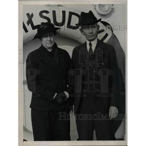 1936 Press Photo Dr. William Hovgaard, of Airship Design & Construction