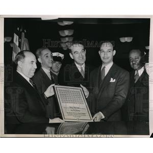 1940 Press Photo Albert Goldman Rufus Atkins Hames Mead Booker T Washington 3rd