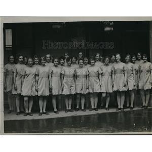 1920 Press Photo Swedish girl gymnasts at Antwern, Sweden