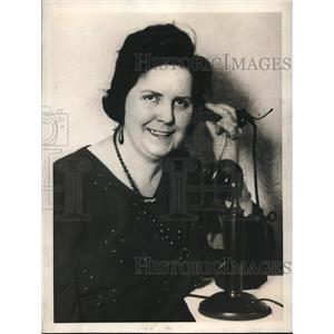 1923 Press Photo Luscille Nornan Telephone Operator at Frisco Hotel