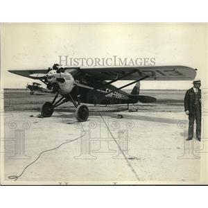 1929 Press Photo Monoplane San Franciscan Before Endurance Flight Attempt