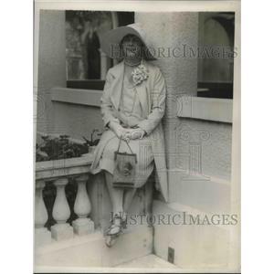 1929 Press Photo Mrs. Earl Deakin at the Breakers Casino in Palm Beach, Florida