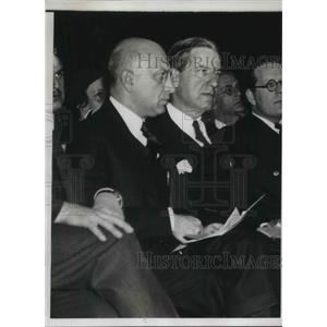 1933 Press Photo Jewish Congress President Bernard Deutsch At Anti-Nazi Protest