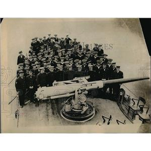 1917 Press Photo U.S Ship Destroyer shown with Machine Guns.
