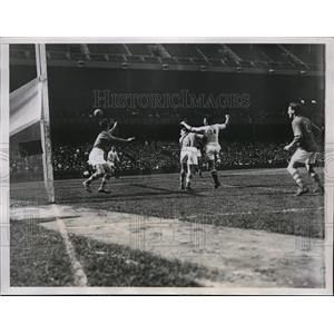 1934 Press Photo Gaelic football at Yankke Stadium in NY, Irish vs NY All Stars