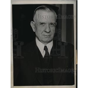 1933 Press Photo House Banking Chairman Henry Steacall Backs Glass Banking Bill