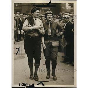 1928 Press Photo Claire Kaegi & Moe Johnson World Tour