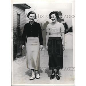 1935 Press Photo Jane McMullen and Isabel McMullen