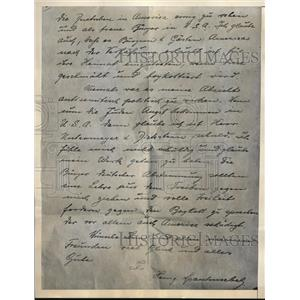 1933 Press Photo Nazi Agent Herr Spanknoebel note to leading German American