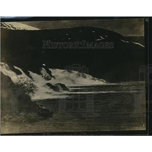 1919 Press Photo A Swedish waterfall - nex11120