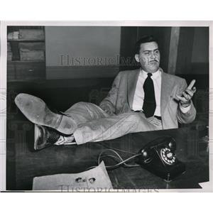 1954 Press Photo Burr C McCloskey