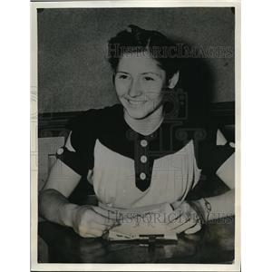 1940 Press Photo Juanita Graham Houston school girl